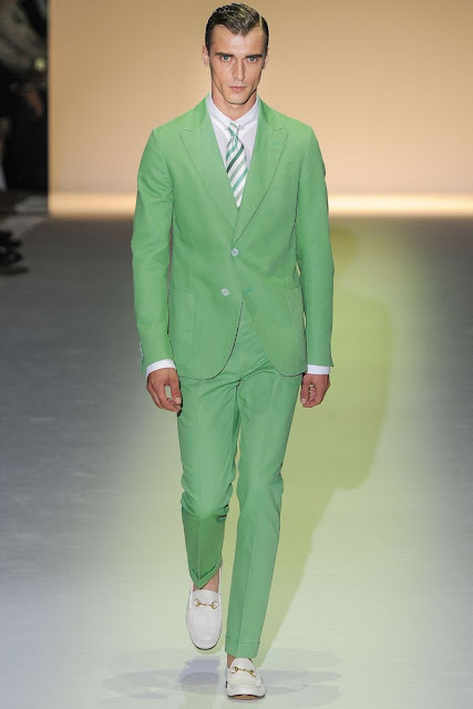 Male model Clement Chabernaud  S/S 2013 Gucci