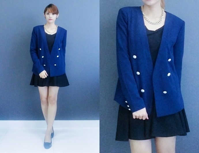 Navy Blue Work Attire Outfit