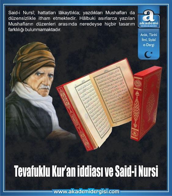 Tevafuklu Kur'an iddiası ve Said-i Nursi