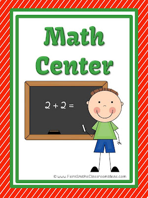 Fern Smith's FREE School Themed Math Center Sign