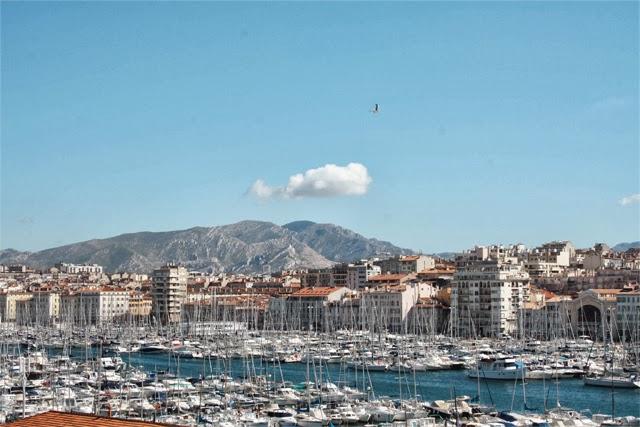 Marseille, le vieux Port vue du Mucem - Blog Marseille