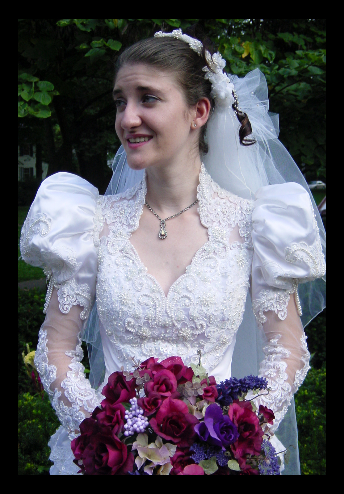 Maria s wedding dress was beautiful provided by morgan herself