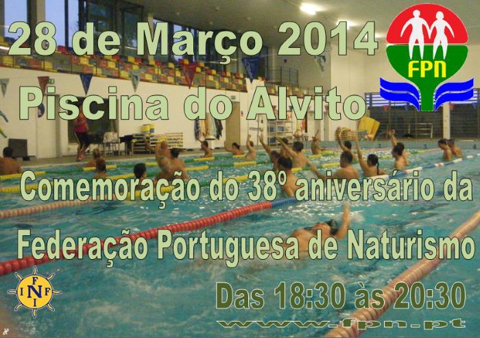 Federação Portuguesa de Naturismo: Piscina do 38º Aniversário