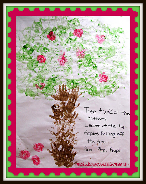 Back to School Bulletin Board with Hand painted Apple Tree at PreK+K Sharing