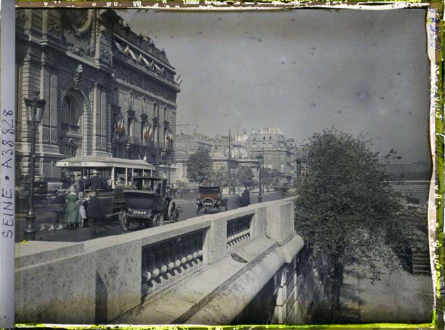 la seine and les quais, paris, ca 1914
