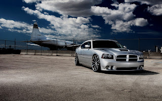 Dodge Charger Airplane Clouds Car HD Wallpaper