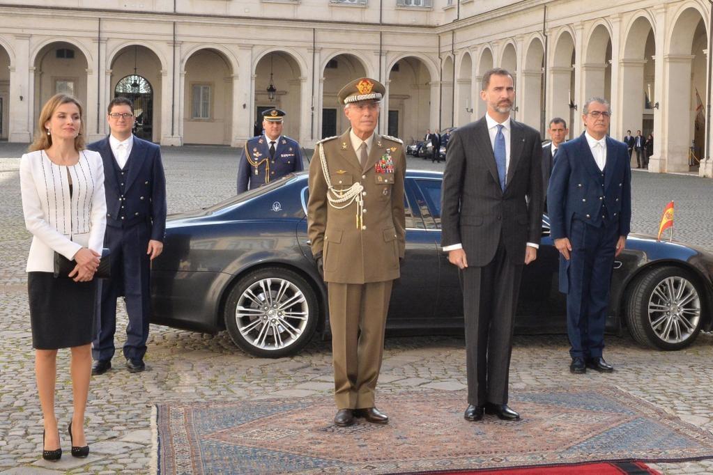 King Felipe VI and Queen Letizia of Spain Visits Italy. 19 November 2014