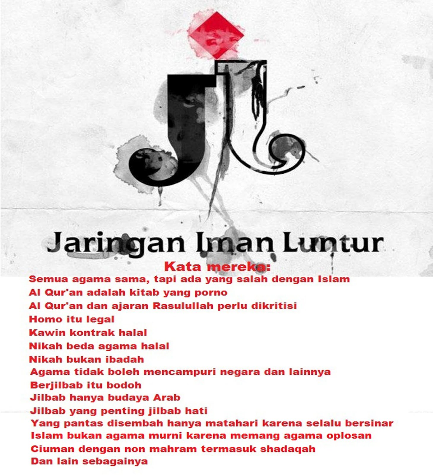 Liberal Kesesatan Atas Nama Agama: SUKSES BERSAMA: INDONESIA TANPA JIL,.... JIL LAGI