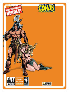 "Figures Toy Company 8"" Robert E Howard Retro (Mego-Style) Conan Card - Front"