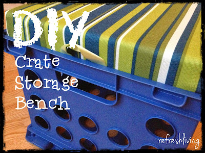 diy classroom crate stool bench