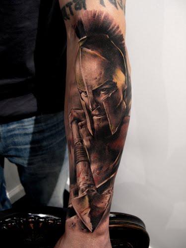 Tatuaje de Gladiador Romano