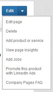 How to delete product on linkedin company page