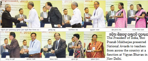 odisha teachers national awards 2013