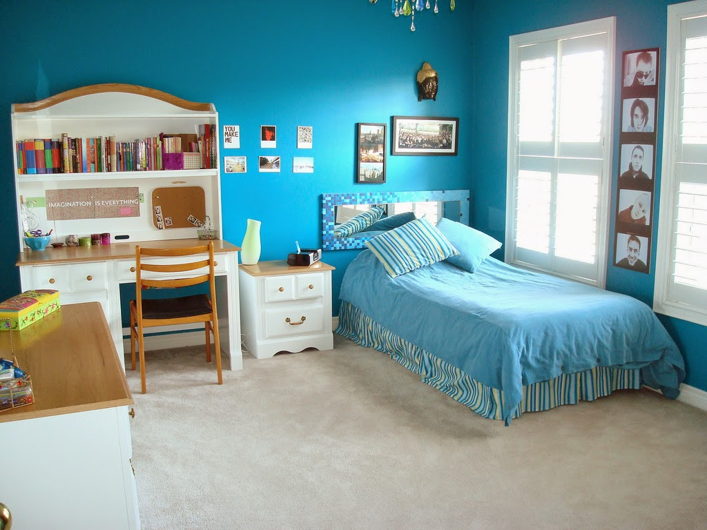 Beautiful Girl Bedroom Blue Theme Designs