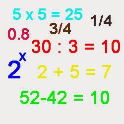 operasi hitung matematika bahasa inggris