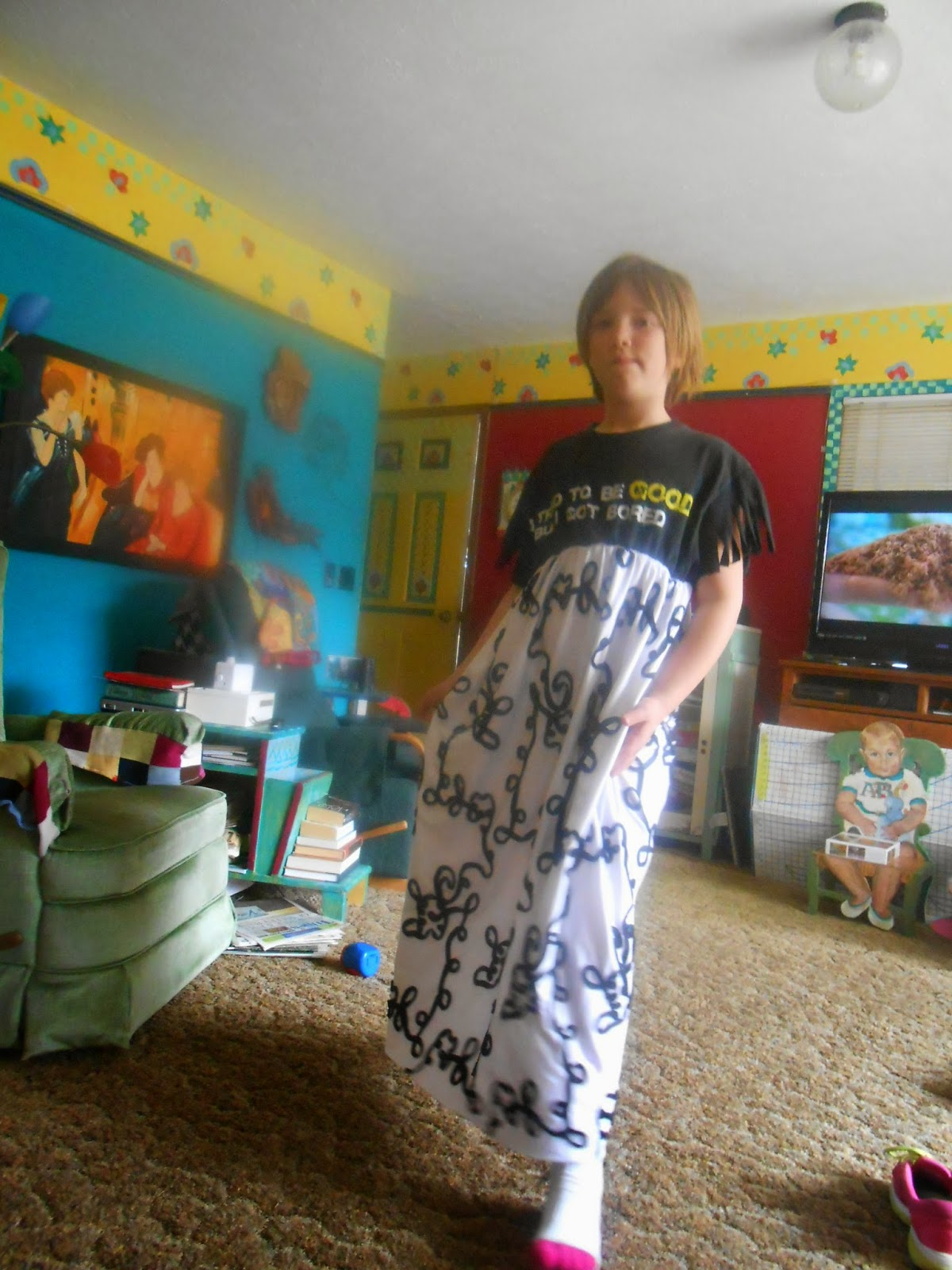 Why Did The Writer Enjoy Living In A Basement : Rita's Sew Fun: Maddie's Dress