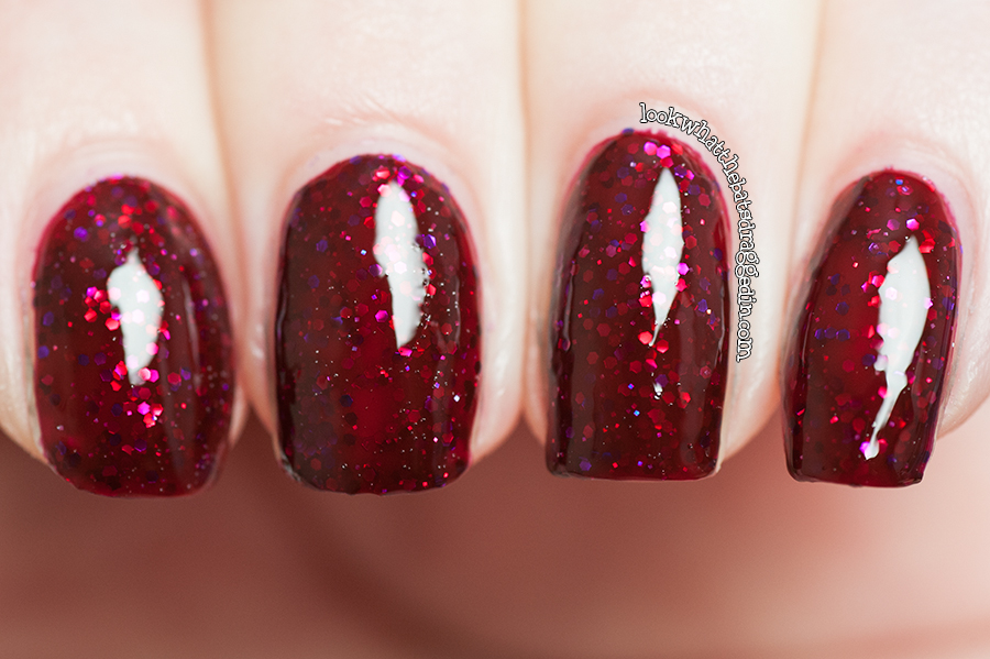 Pretty Serious Cosmetics Bloody Bride nail polish swatch