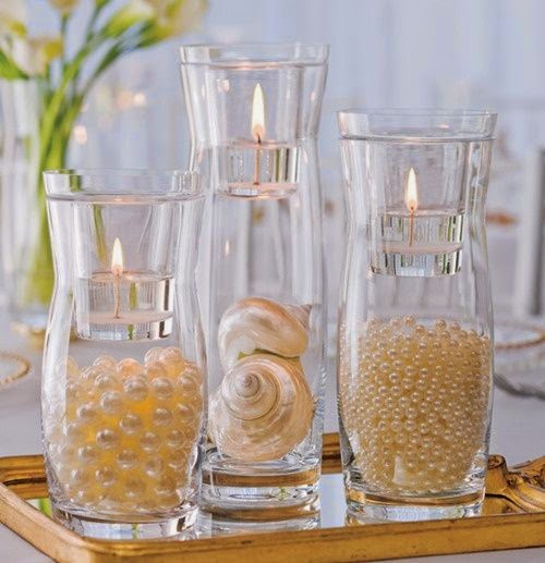 A Bride\'s BFF: 26 Non-Floral Beach Wedding Centerpiece Ideas