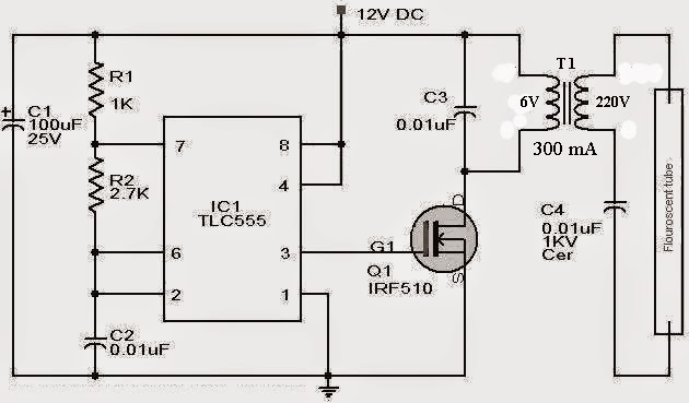 blog teknik  u0026 vokasi  rangkaian inverter lampu tl 12 v dc