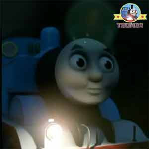 Thomas and the diesels drove through Misty Island tunnel on the hunt for an impressive decoration