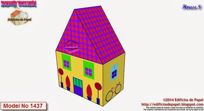 Descarga gratis tus 10 casitas de papel de Happy Village by Edificios de Papel