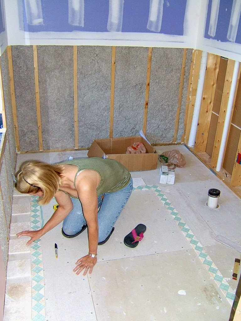 Sopo cottage bathroom design with a sea glass color scheme for Sea glass bathroom design