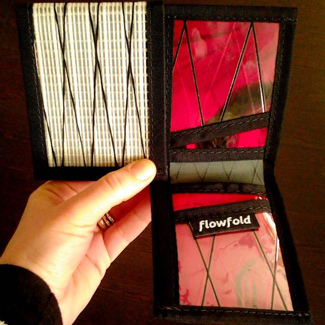 comprar cartera flowfold blanca roja billetero fina resistente ligera