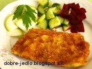 Vyprážané rybie filé s horčicou - recept
