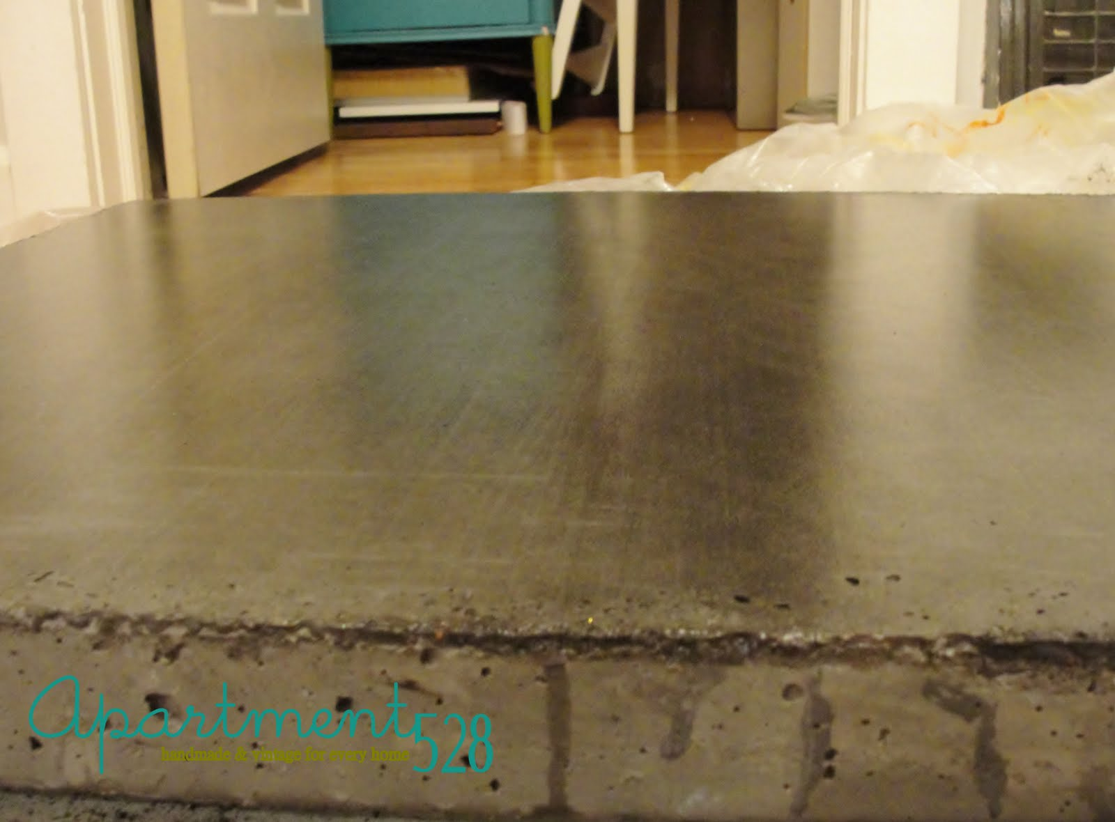 Sealing Painted Countertops Apartment 528 The Ultimate Weekender Diy Concrete Countertops