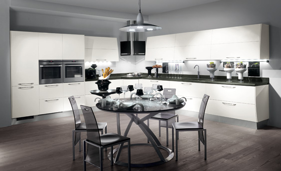 Cocinas color gris y blanco italianas | Ideas para decorar, diseñar ...