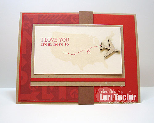 From Here to  . . . card-designed by Lori Tecler/Inking Aloud-stamps from Clear and Simple Stamps