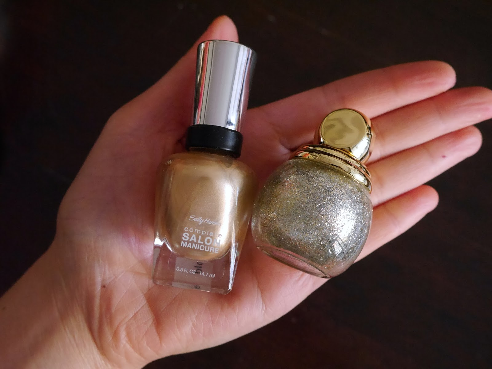 Sally Hansen Fool S Gold Dior State Of Nail Polish Manicure Holiday Look