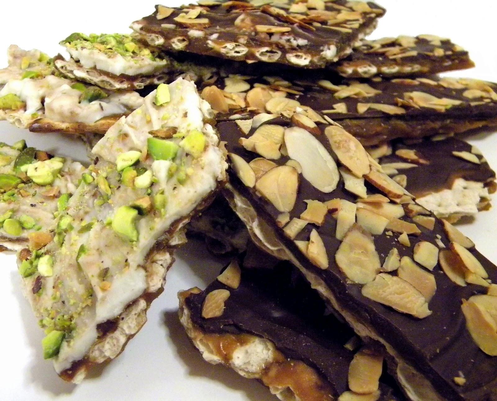 Cleo Coyle Recipes.com: Chocolate Matzo Buttercrunch and White ...