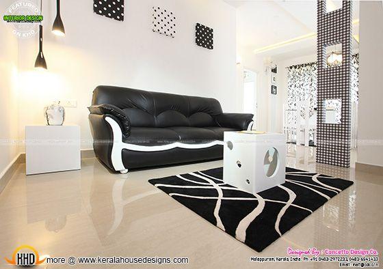 Living room after furnished