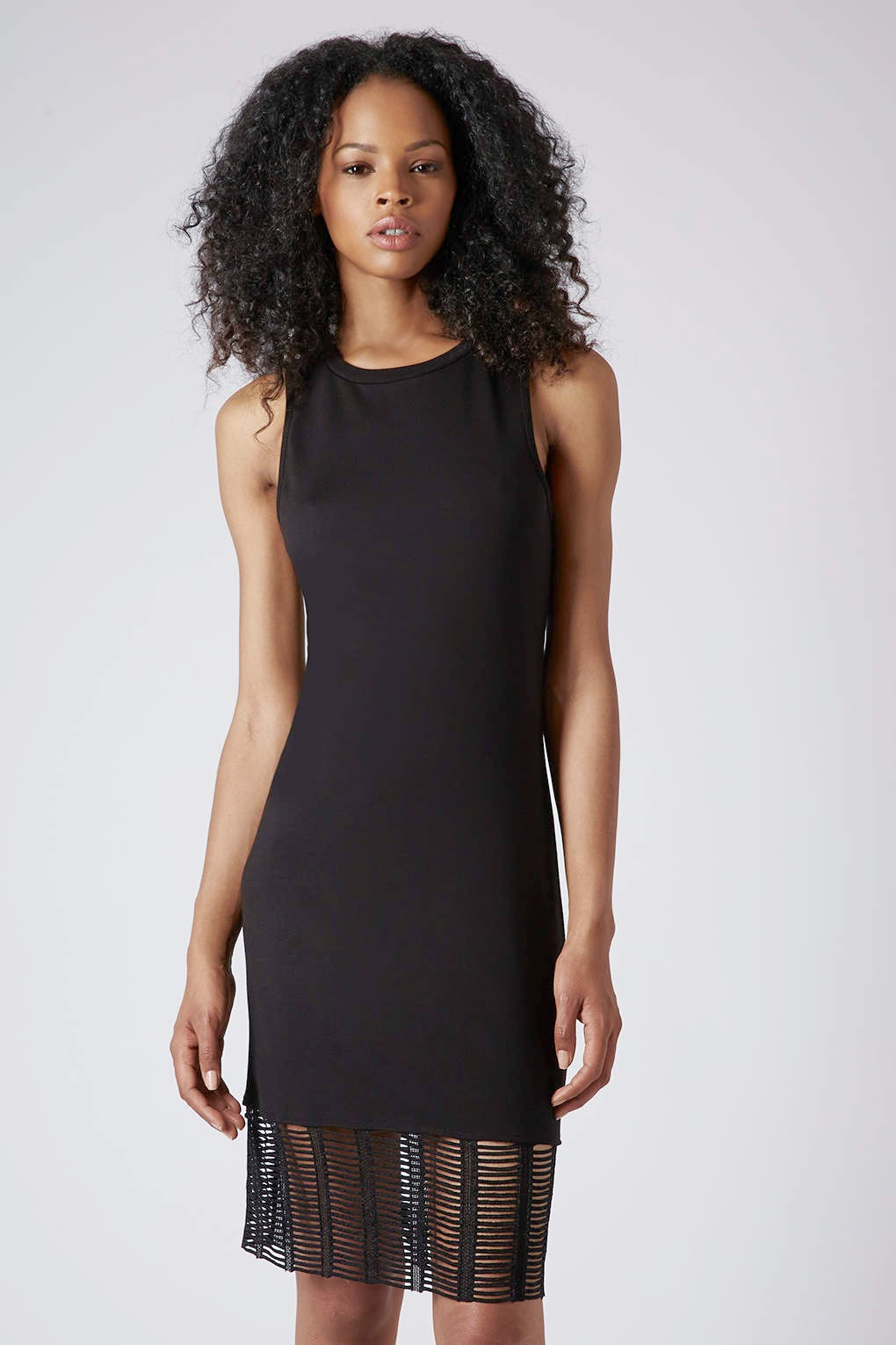 black dress with detail