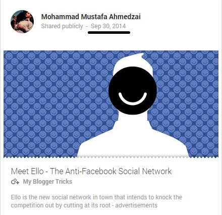 Google Plus post URL