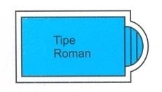 desain kolam renang tipe roman
