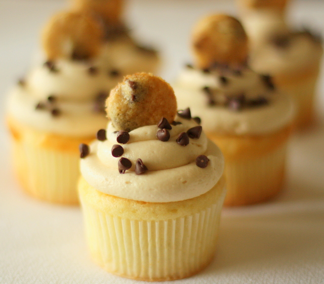 Half Baked: Chocolate Chip Cookie Dough Cupcakes