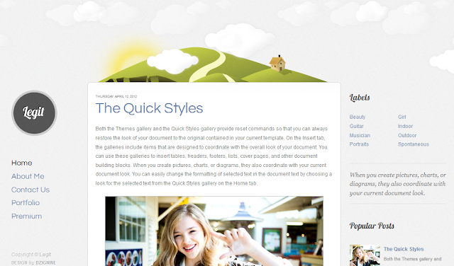 Animated Blogger Template
