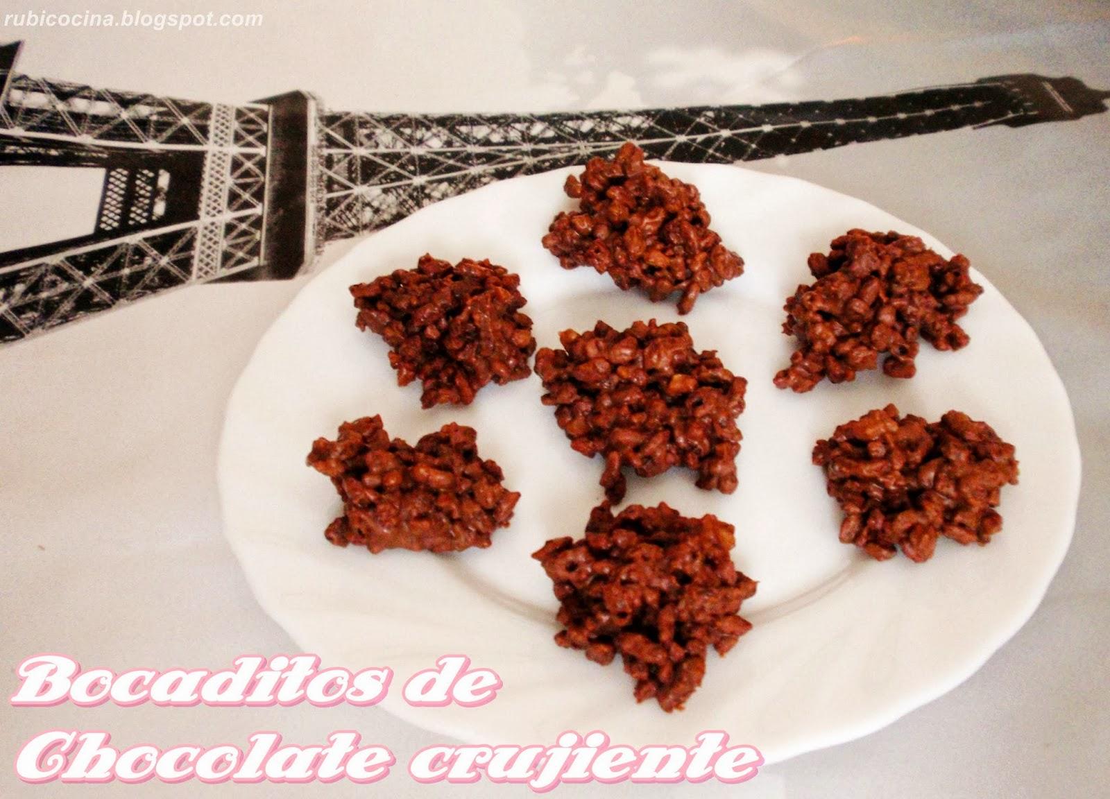 rubibeauty receta bocaditos chocolate crujiente san valentin dulce