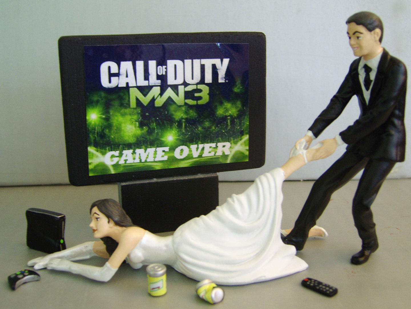 Completely customisable  this one is handcrafted by an Etsy sellerVideo Game Wedding Cake