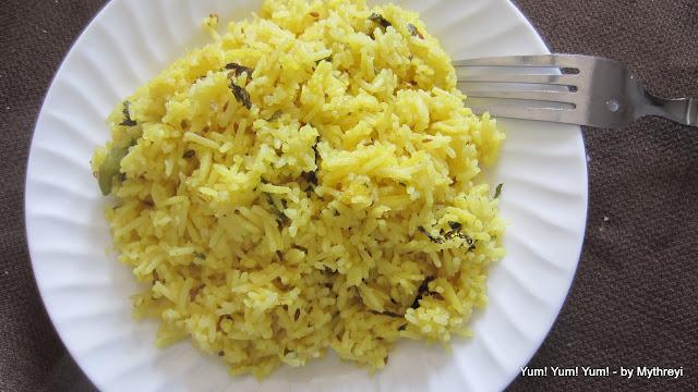Yum yum yum jeera pulao cumin seeds flavored rice