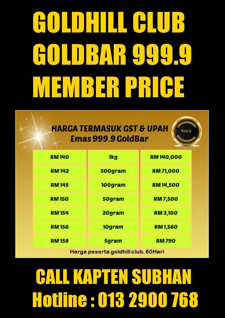HARGA AHLI GOLDHILL CLUB