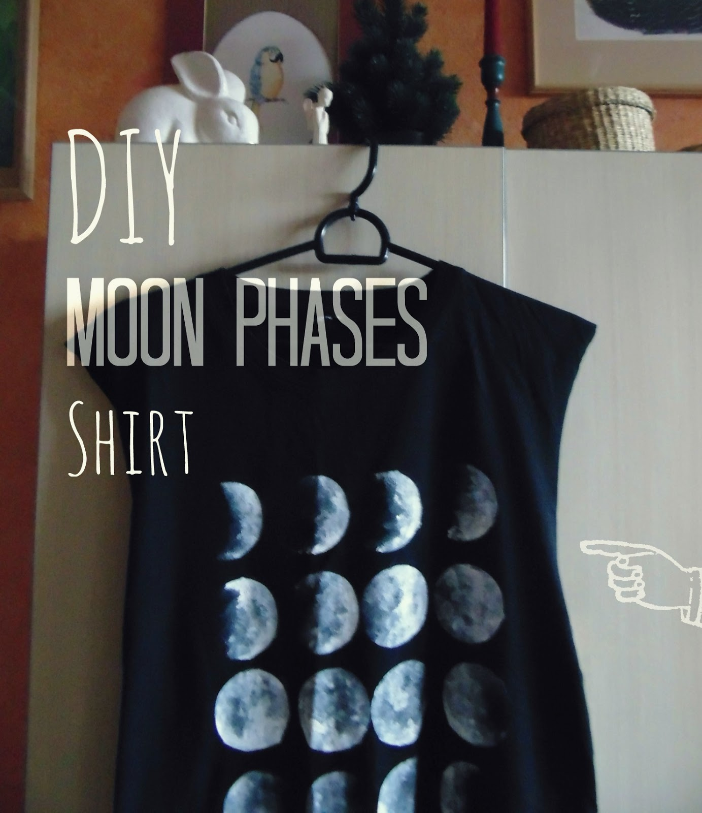 Diy Moon Calendar : The creamy cat how to make your own diy moon phases shirt