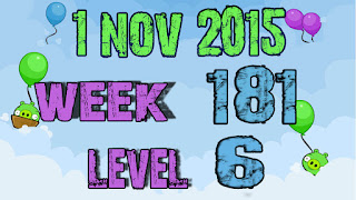 Angry Birds Friends Tournament level 6 Week 181