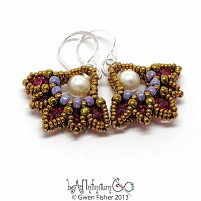 Lotus Drop Beaded Earrings