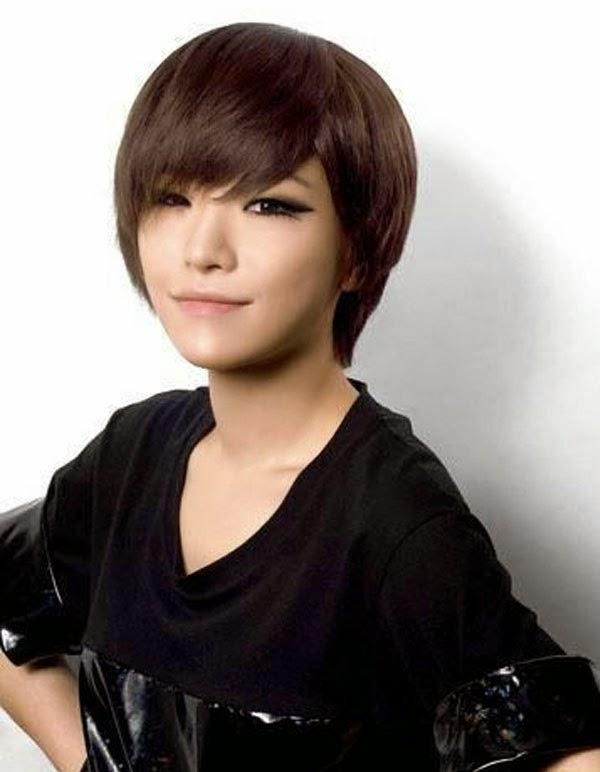 berbagai macam gaya trend Model Rambut Pendek Wanita Korea 2014