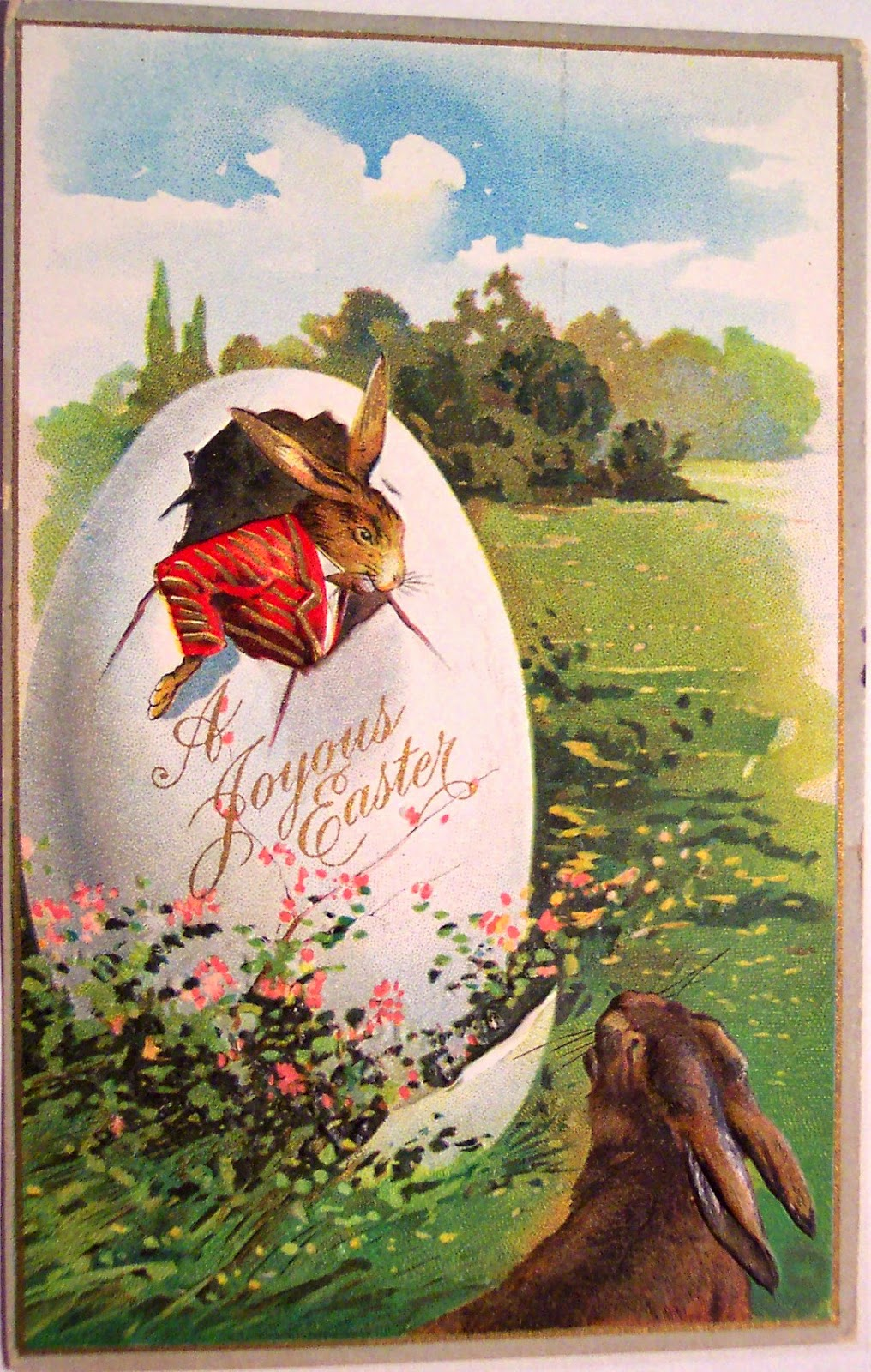 Im Thinking Of A Vintage Easter Greeting Cards Bizarre And