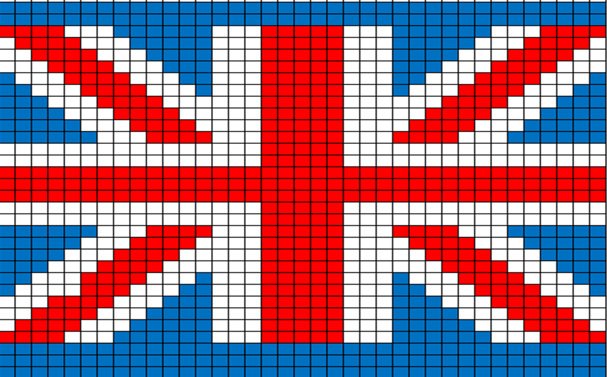 Knitting Pattern For Union Jack : Herons Crafts: Olympic Countdown - 7 Weeks to go - Union Jack Knitted Pu...