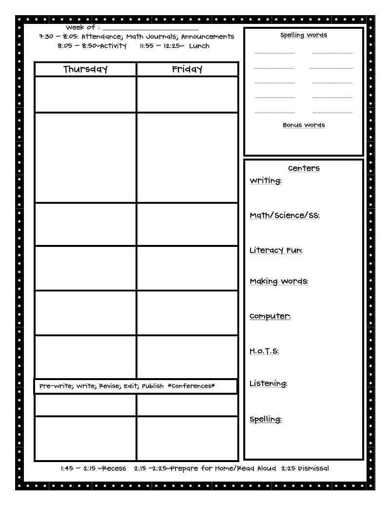 outstanding lesson plan template - crazy for first grade back to school the first day in